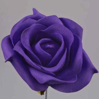 Schaumrosen Rosen, Kunstblumen kaufen lila. 9cm bei Shophaus 24