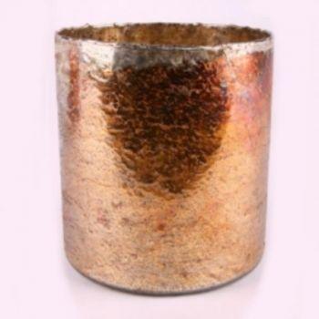 Goldfarbener glaszylinder glasdekoration emaille effekt for Glasdekoration neu