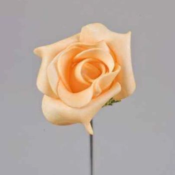 Apricot Deko Kunstblumen Rosen, als Schaumbl bei Shophaus 24