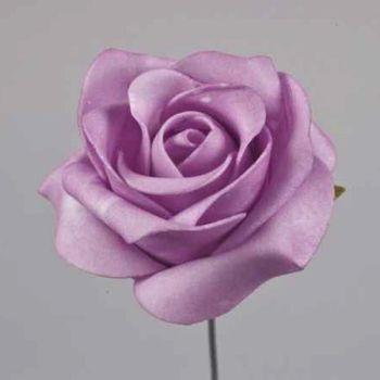 Lilafarbene Kunstrosen, Kunstblumen Dekoration. 7cm bei Shophaus 24