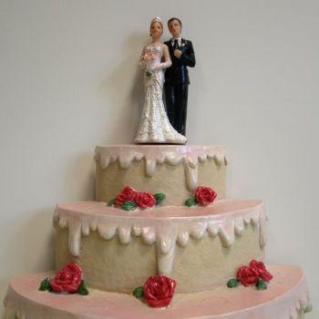 Prachtvolles Deko Brautpaar, Tortenschmuck, Glitzer Kleid bei Shophaus 24
