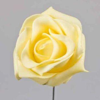 Gelb helle Kunstblumen, Deko Rosen Schaumbl bei Shophaus 24