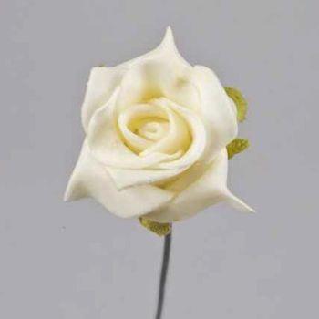 Kunstblumen Creme Rosen, Deko Schaumblüten. 3,5cm bei Shophaus 24