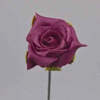 Schaumrosen Rosen pflaume, Kunstrosen kaufen. 3,5cm bei Shophaus 24