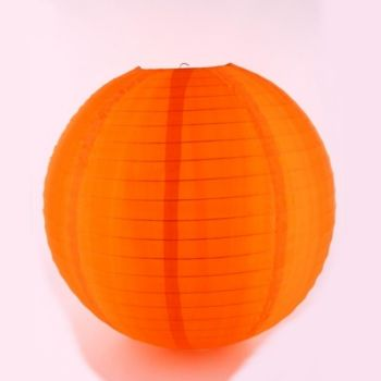 Nylon Lampion orange. D 40cm. 1 Stück
