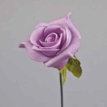Lila farbene Kunstrosen, Kunstblumen Dekoration. 3,5cm bei Shophaus 24