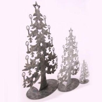 deko tannenb ume metall display tannenbaum 42cm. Black Bedroom Furniture Sets. Home Design Ideas