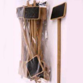 preisschild tafel zum beschriften mit stab zum stecken aus holz. Black Bedroom Furniture Sets. Home Design Ideas