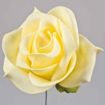 Deko Kunstblumen hell gelb, Deko Rosen Schaumbl bei Shophaus 24