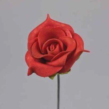 Bastelspass mit Deko Kunstrosen, Rosen Kunstblumen rot. 3,5cm bei Shophaus 24