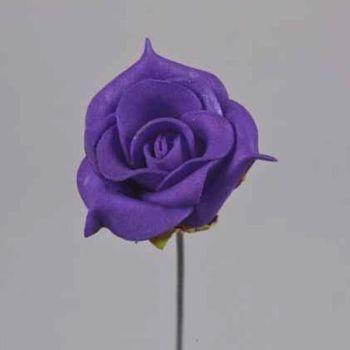 Kunstblumen Rosen lila, Schaumrosen kaufen. 3,5cm bei Shophaus 24