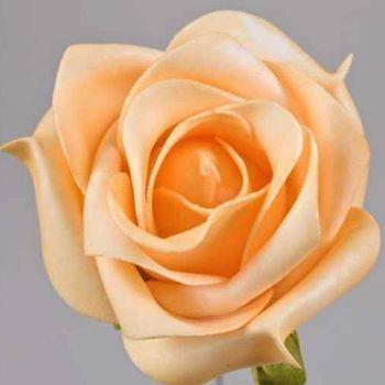 Apricot farbene Kunstrosen, Kunstblumen Blumenschmuck. 9cm bei Shophaus 24