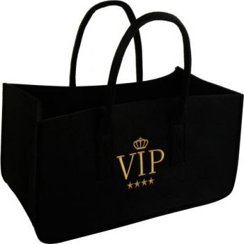 vip feuerholz tasche filztasche mit stickerei f r kaminholz. Black Bedroom Furniture Sets. Home Design Ideas