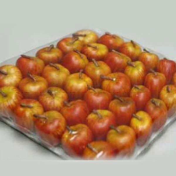 Künstliche Äpfel am Draht, rote Äpfel Herbstdekoration. 36Stück