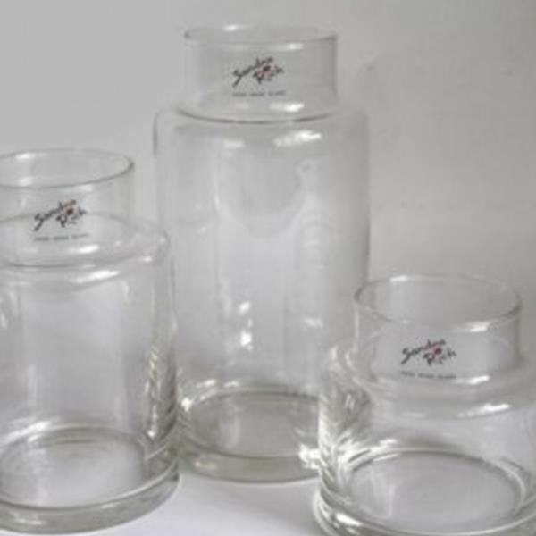 Dekoration mit Apothekerglas 3 verschiedene Höhen, Deko Glas