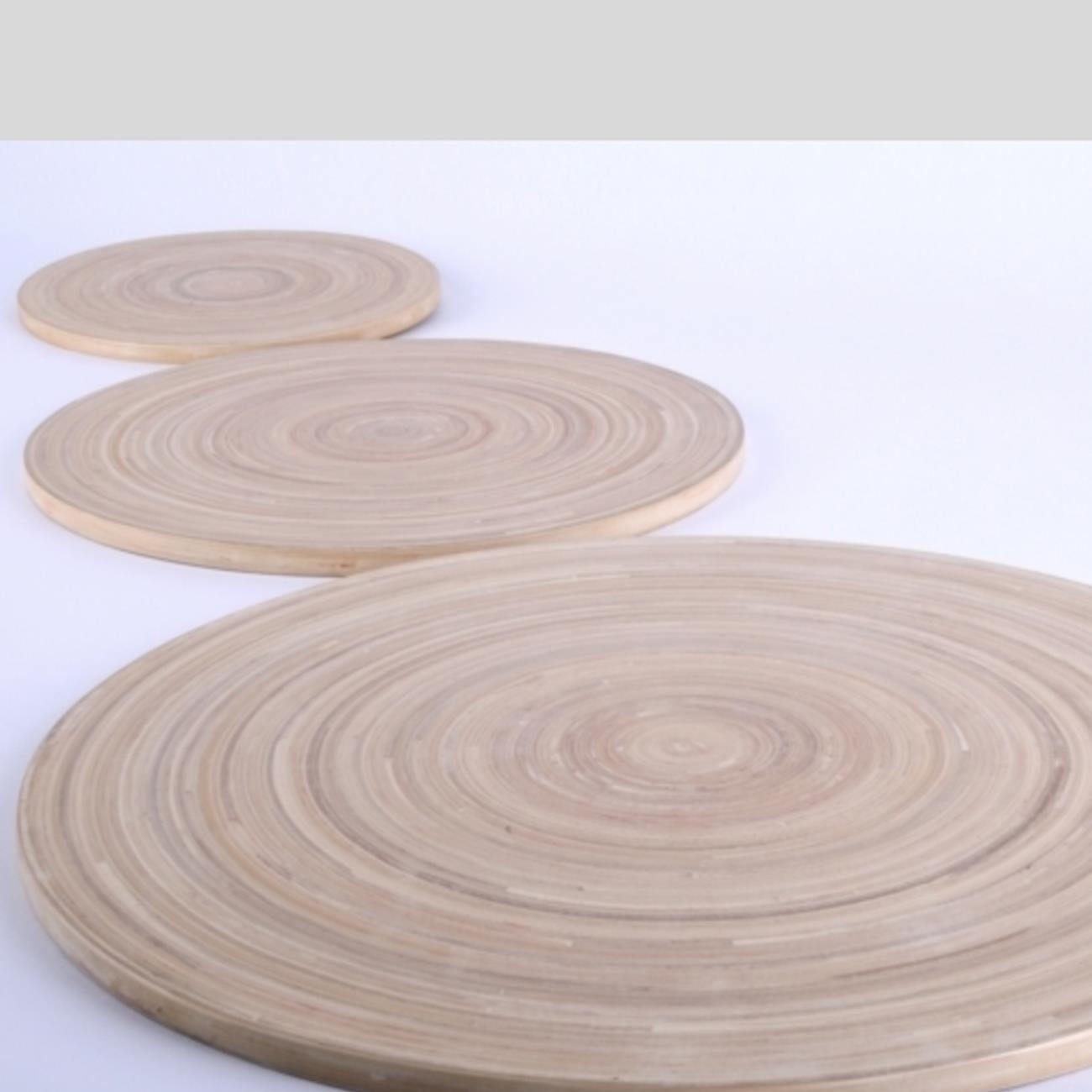 Bambus Natur Holzplatte Flach Im Deko Shop