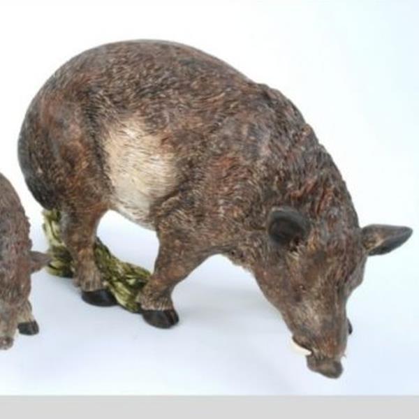 J ger und herbst dekoration wildschwein deko figur 22cm for Dekoartikel herbst