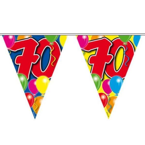 dekoration 70 geburtstag ballon wimpelkette 70 jahre ForDekoration 70 Jahre