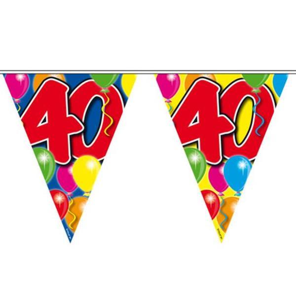 Deko 40ter Geburtstag Ballon Wimpel Girlande 40 Jahre