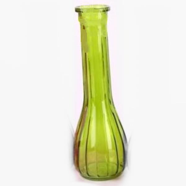 Deko Glasflaschen Rund Mit Rillen Grun Helle Flaschen 20 Stuck