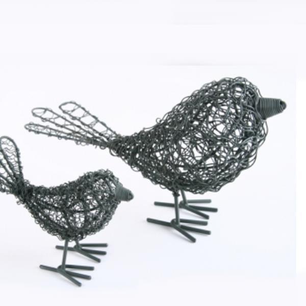 Vogel Aus Drahtgeflecht Filigran Vogel Metall Draht 23cm