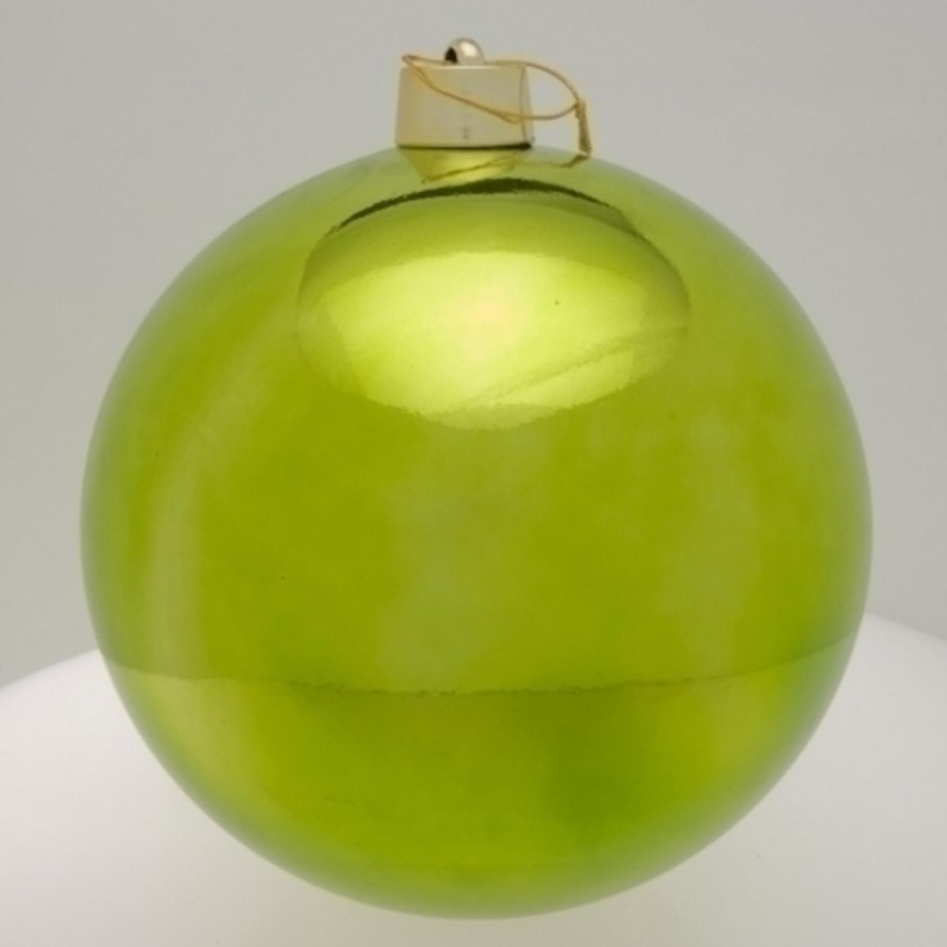 Weihnachtskugeln Xxl.Weihnachtskugel Lindgrün Glänzend 30cm 1 Stück