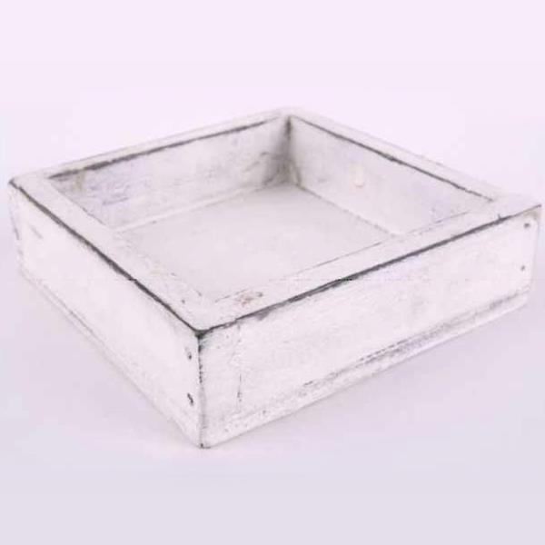 tablett holz quadratisch wei e kleine tabletts d 10cm. Black Bedroom Furniture Sets. Home Design Ideas