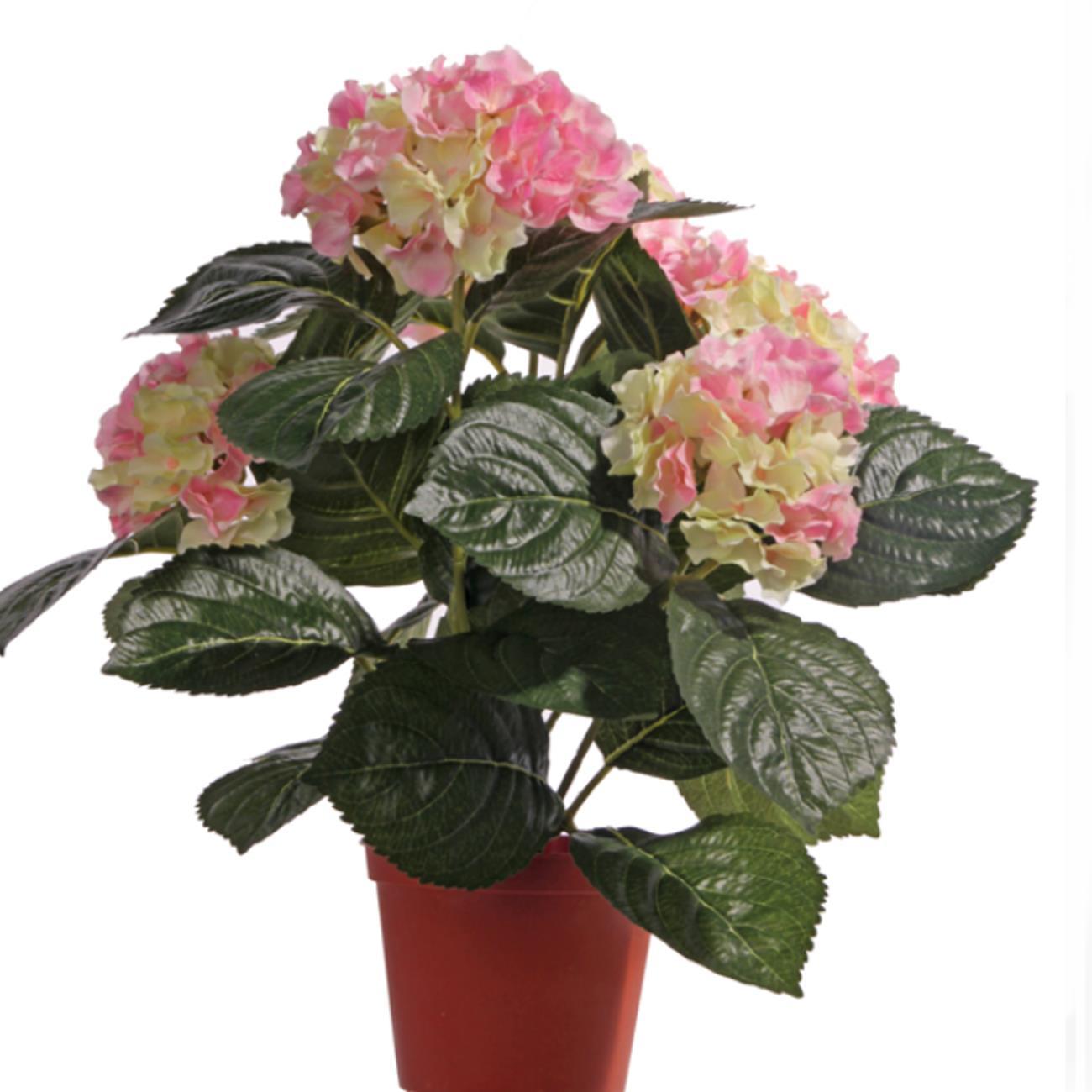 k nstliche hortensienpflanze im topf f r einen dauerhaften blumenschmuck. Black Bedroom Furniture Sets. Home Design Ideas