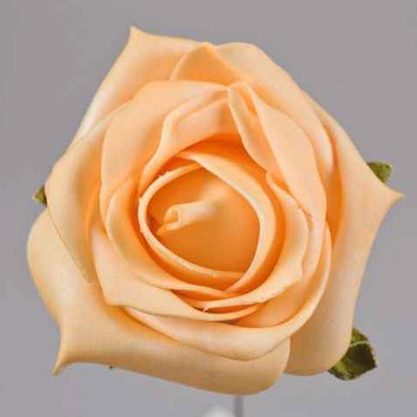 Deko Apricot Kunstblumen Rosen Als Schaumbluten 7cm
