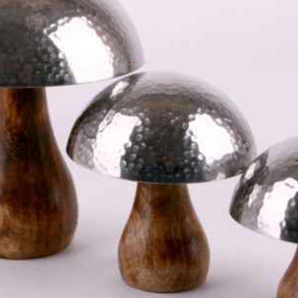 Holz Metall Pilz Dekoration, Pilz zum stellen, 12cm