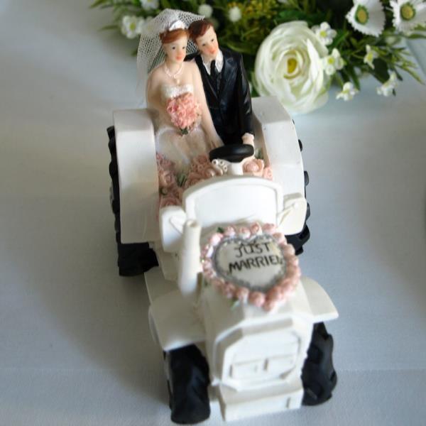 Geschenk Spardose Zum Hochzeitstag Brautpaar Mit Traktor