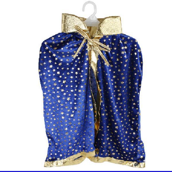 blauer kinder umhang sterne mit goldenen sternen. Black Bedroom Furniture Sets. Home Design Ideas