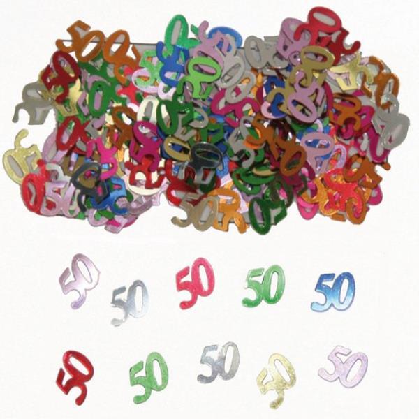 Streudekoration 50 Jahre Dekoration 50 Geburtstag