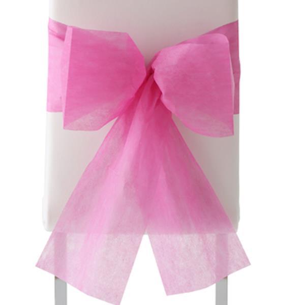 stuhl dekoration f r g ste stuhl schleifen pink 10 st ck. Black Bedroom Furniture Sets. Home Design Ideas