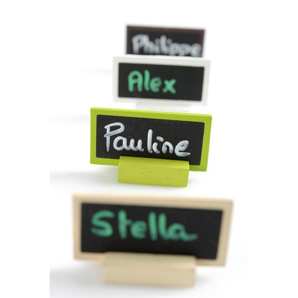 kleine schiefertafeln zum aufstellen tischkarten f r die. Black Bedroom Furniture Sets. Home Design Ideas