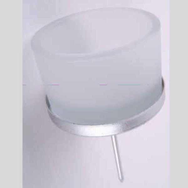 Teelichtstecker für Adventskranz, Teelichthalter Glas matt. 4Stück