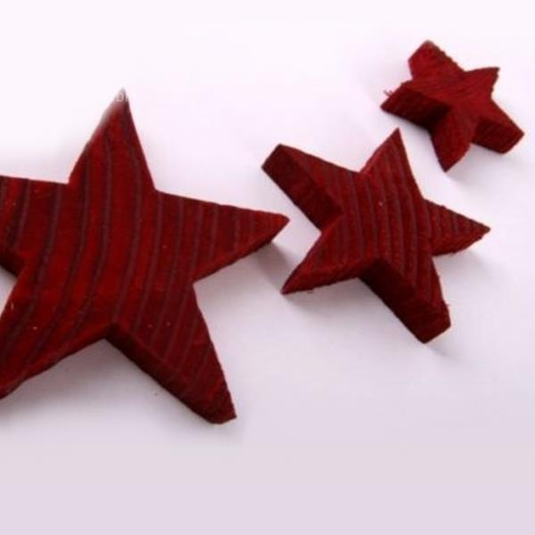 sterne aus holz rote weihnachtssterne natur 4cm 24 st ck. Black Bedroom Furniture Sets. Home Design Ideas