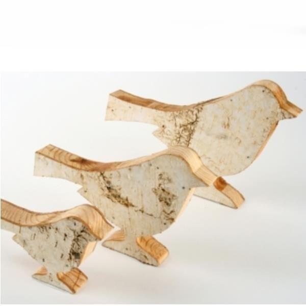figur aus birkenholz natur holz vogel 18cm