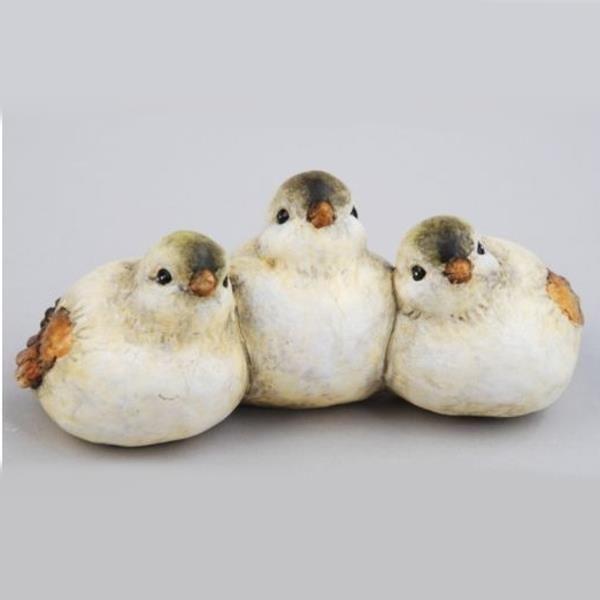 Sitzende deko vogel figuren schauhend for Herbst dekoartikel