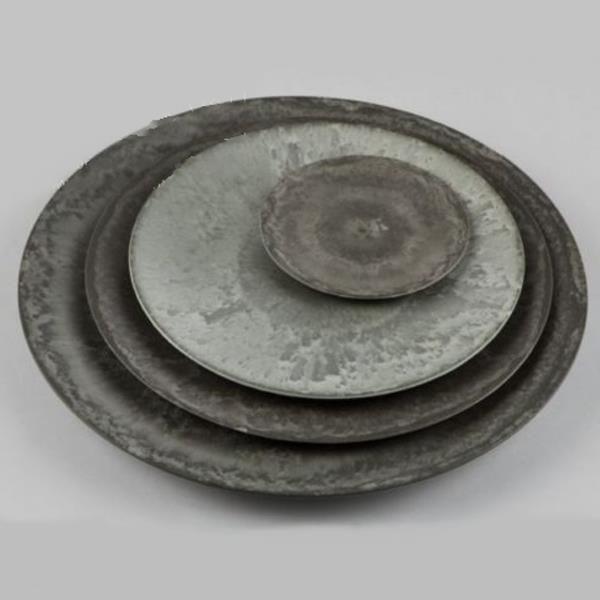 Artstone deko teller teller grau kunststoff in 3 gr en for Graue dekoartikel