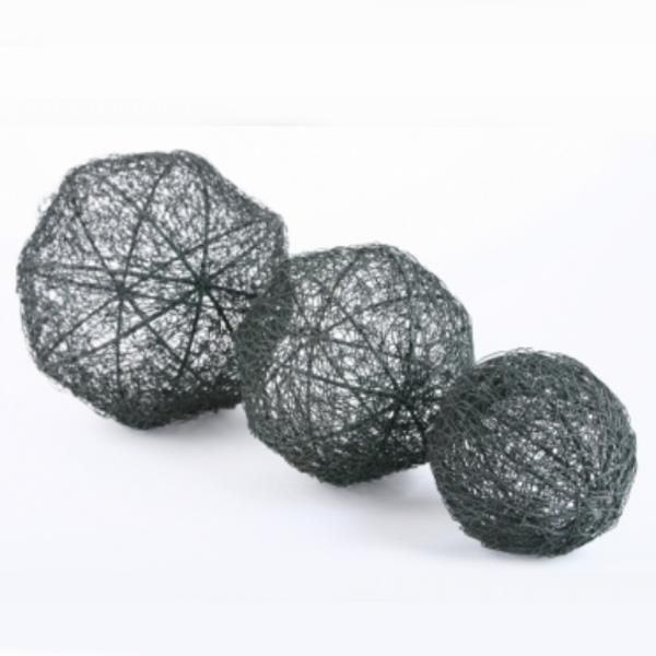 deko kugeln aus draht drahtkugeln grau metall 3 gr en. Black Bedroom Furniture Sets. Home Design Ideas