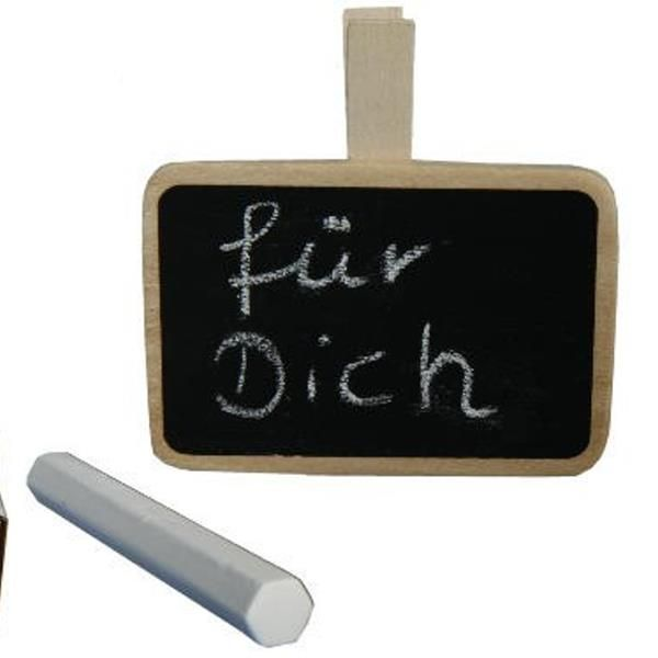memoboard mit clip und kreide kleine tafel mit klammer. Black Bedroom Furniture Sets. Home Design Ideas