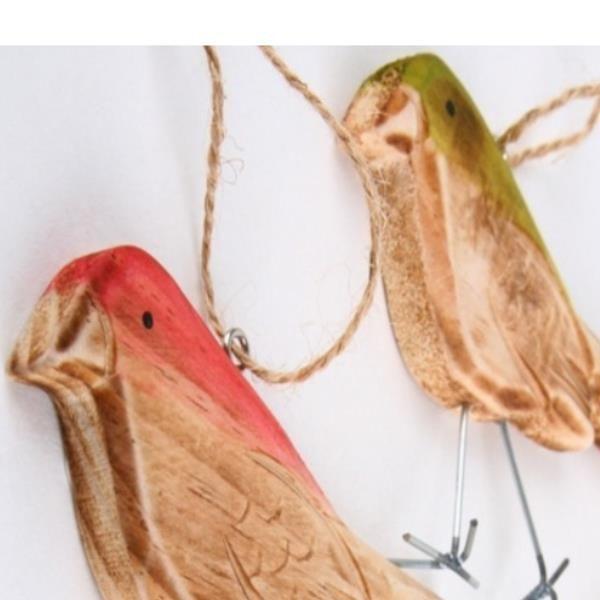 Vogel Holz vogel aus holz deko hänger holzvogel sortiment 3 farben