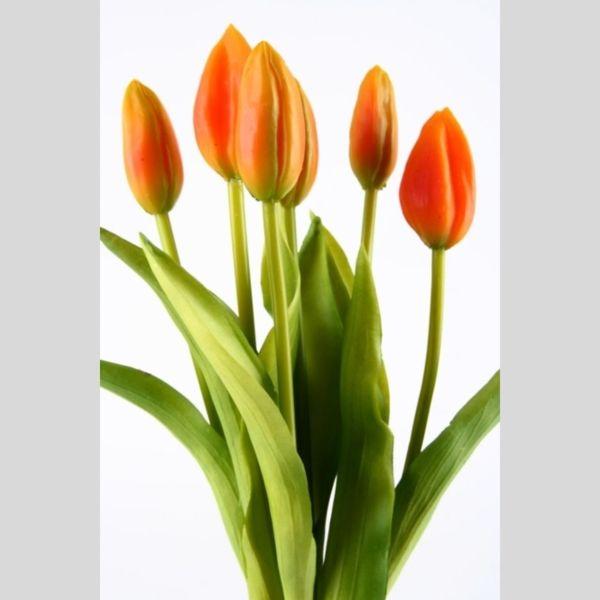 tulpen kunstblumen im 6er bund aus kautschuk. Black Bedroom Furniture Sets. Home Design Ideas