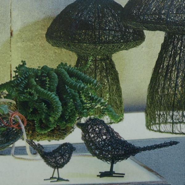 Vogel aus drahtgeflecht filigran vogel metall draht 23cm for Herbst dekoartikel