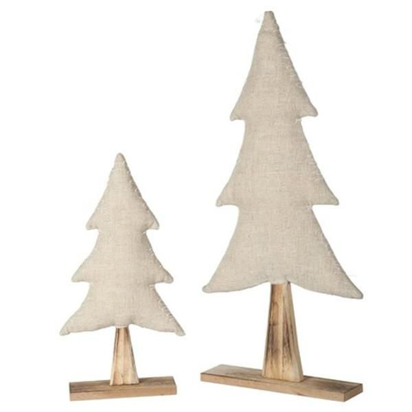 holz weihnachtsbaum mit jute zum stellen 58cm. Black Bedroom Furniture Sets. Home Design Ideas