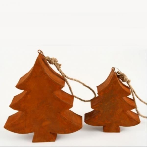 Blech weihnachtsb ume baum rost am strick 3 st ck for Dekoartikel rost